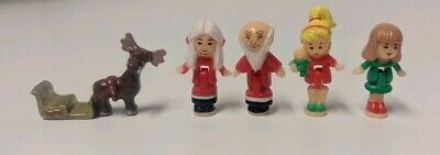1993 Bluebird Polly Pocket Holiday Toy Shop Figures Christmas Complete
