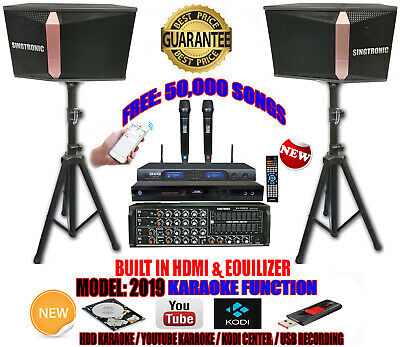 Singtronic Complete 1200W Karaoke System FREE 50,000 Songs With HDMI & Youtube