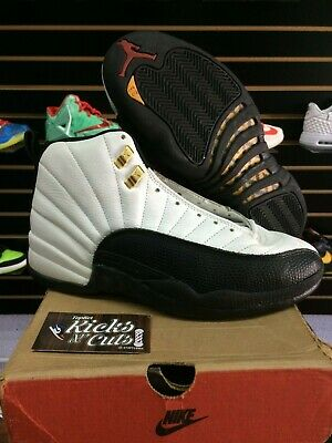 60f8d13df56 Air Jordan 12 Taxi og 1996 sz 8.5 flu game ovo gym red french Chinese new