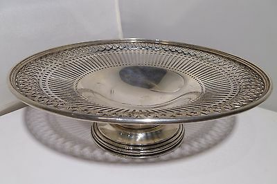 "BIRKS Sterling Silver Bread Dessert Tray 8"" Round 315.8 Grams Vintage Estate"