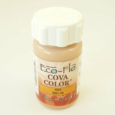 ECO-FLO 2oz Gold Eco Leather Colour / Flo Cova Colour Paint Leather craft Tandy