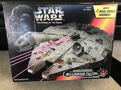 1995 Star Wars Power of the Force Electronic Millennium Falcon New