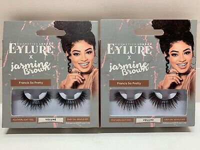 0dc366a59f8 EYLURE X JASMINE Brown Lashes Curly Queen Reusable Adhesive Included ...