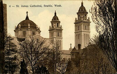 St James Cathedral ~ Seattle Washington ~Pacific Coast Biscuit Co. c1910