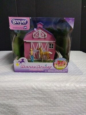Breyer Stablemates Horse Crazy Pocket Barn and Horse Play Set