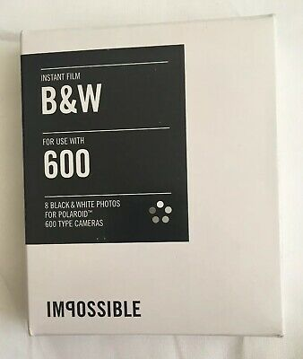 polaroid 600 film impossible Film Black And White PRD_2786 Unopened New 8 Count