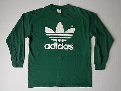 100511b56d62c VINTAGE 90S ADIDAS Trefoil Big Logo T Shirt USA Made Size XL Single ...