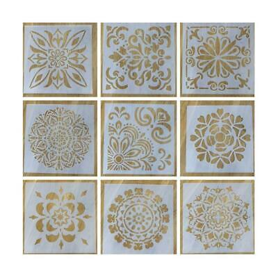 9pcs/set Walls Painting Layering Stencils Scrapbooking Embossing Template