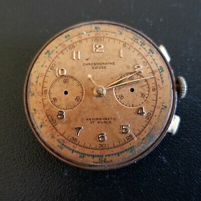 Chronographe Suisse SWISS Chronograph Wrist Watch Movement Need Repair Parts RRR