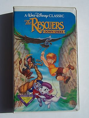 The Rescuers Down Under (A Walt Disney Black Diamond Classic) VHS Video Tape BOB