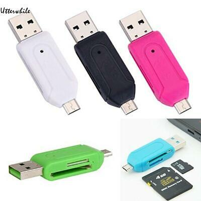 USB 2.0 OTG Card Reader Micro USB SD/ TF Card Reader Adapter For Phones/ U8HE