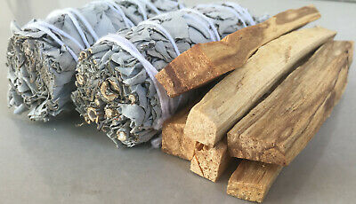 2 White Sage Smudge Stick & 6 Palo Santo Sticks | Smudge Kit Refill
