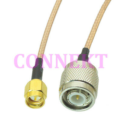 TNC male to SMA male straight crimp RG316 cable jumper pigtail 15cm