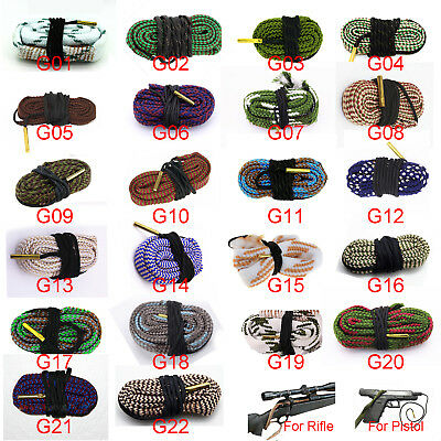 Gun Bore Snake String Cleaner Cleaning Calibre Borebrush Hunting Acces Kit New