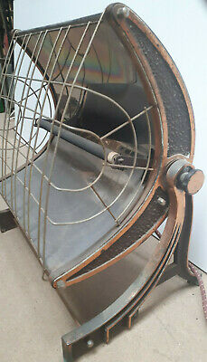 bronzed copper Art Deco Hecla Heater 30s Antique Made in Australia RARE