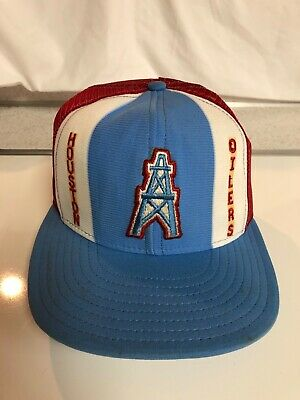 35fbfb4dbd5 MITCHELL   NESS Houston Oilers NFL Vintage Collection Snapback Hat ...
