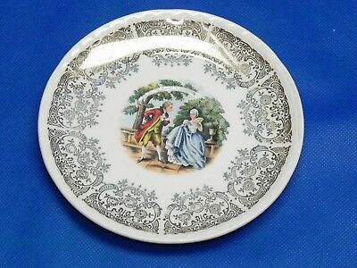 """CrooKsville Pottery Colonial Couple Saucer Plate 6"""""""