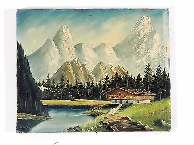 """Vintage Oil on Canvas Painting Signed by Listed Artist Moser - 13-3/4"""" X 11-1/8"""""""