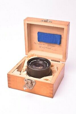 Lens Carl Zeiss Jena Apo - Tessar F/9 - 240mm. #2708146. with Wooden Box