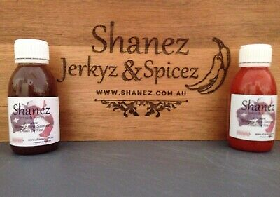 Shanez Carolina Reaper & Ghost 'Death by Fire' Sauce 120ml ea Chilli  Free Post