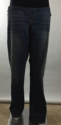 f1d0355a7d6 NWT Liz Lange Maternity Jeans Size 18 Boot Cut Under the Belly Slim Hip &  Thigh