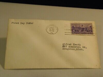 150 Year Anniversary of the Constitution 1938 FDC with No Cachet