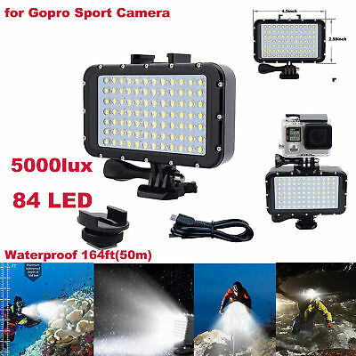 5000lux LED Underwater Diving Light Waterproof Spot Lamp For GoPro/Other Camera
