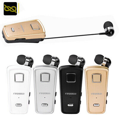 Retractable Fineblue F980 Stereo Wireless Bluetooth Headset Calls Earphone US