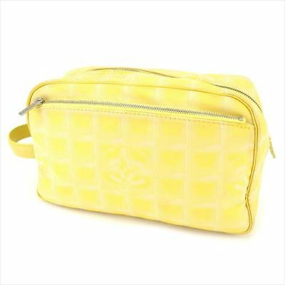69375b7431bd31 Chanel Clutch bag New travel line Yellow Canvas Woman Authentic Used T8797