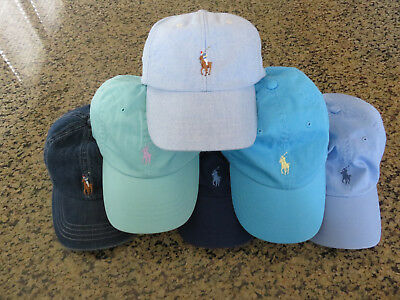 Polo RALPH LAUREN Baseball Hat Cap Icon Polo Pony in Oxford/Denim/Aqua/Blue