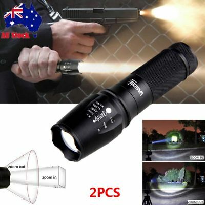 Military Zoom 10000lm XM-L T6 LED Tactical Flashlight Torch 2665018650/AAA Light