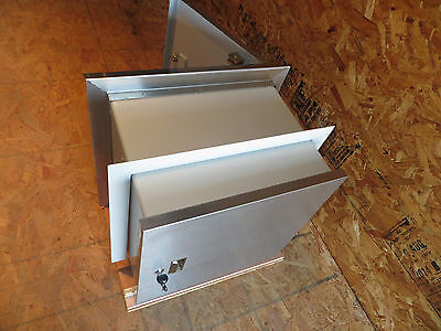 Safe Package Receiver Drop Box Pass Through Wall Stainless Steel Heavy Grade