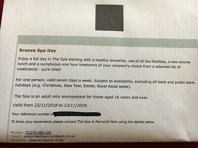 Exclusive Hotels Pennyhill Spa Bronze Spa Day voucher