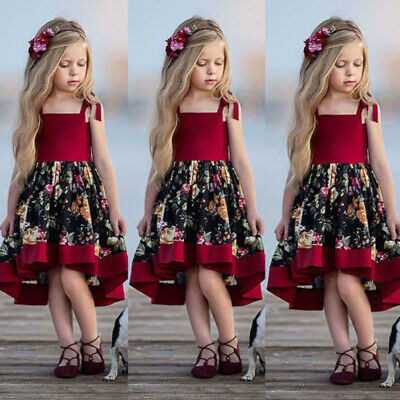 Boutique Toddler Baby Girls Sleeveless Dress Party Princess Sundress Outfit