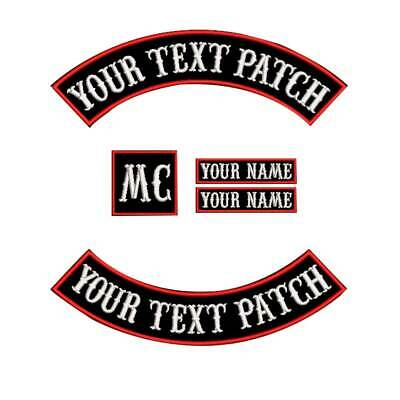 Custom Motorcycle Biker Patch Embroidery Your Own Text Rocker Iron/Sew on Patch