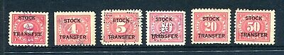 United States stock transfer stamp selection used