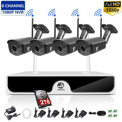 JOOAN Wireless 8CH 1080P NVR Home Outdoor Security Camera IP CCTV System Kit
