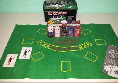 Set completo 200 Fiches 4 grammi Texas Hold'Em-Poker