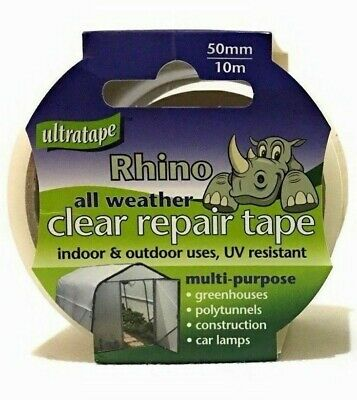 Ultratape All Weather Clear Repair Tape 50mm x 10m Windows Glass Car Lamps