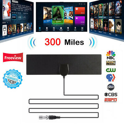 Antenna TV Digital HD 300 Mile Range Skywire TV Indoor 1080P Coax Cable