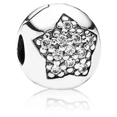New Authentic Pandora You're A Star Clip CZ Sterling Silver Bead Charm  791056CZ