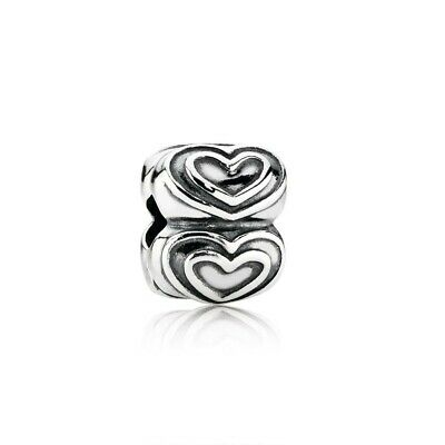 New Authentic Pandora Charm Sterling Silver- MY HEART CLIP