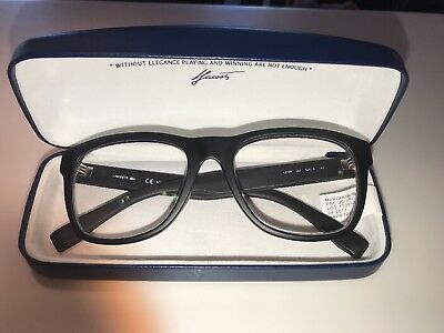 7ac5f8612ed LACOSTE Frame and Original Case L2766 001 52 18 BLACK MATTE EYEGLASSES 140