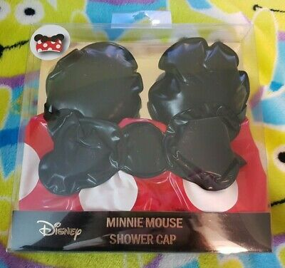 Disney Minnie Mouse Ears Novelty Shower Cap Red Spotty with Bow - Primark