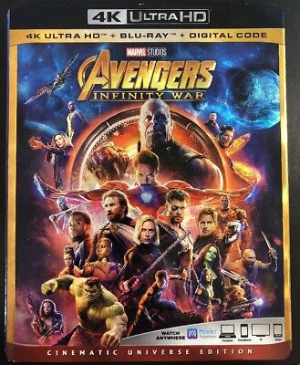 Avengers Infinity War (4K Ultra HD + Blu-ray + Slipcover And Bonus Lithograph)