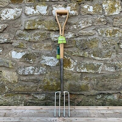 Burgon & Ball RHS Garden Border Fork - Digging, Stainless Steel, Wood YD