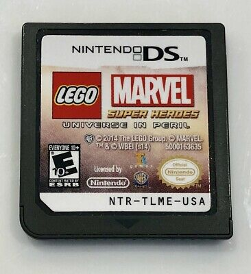LEGO Marvel Super Heroes Universe in Peril Nintendo DS 3DS Game Only Ships Fast