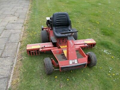 Ransome 7 Foot Hydraulic Gang Mower to go behind a Tractor outside Digger Shed.