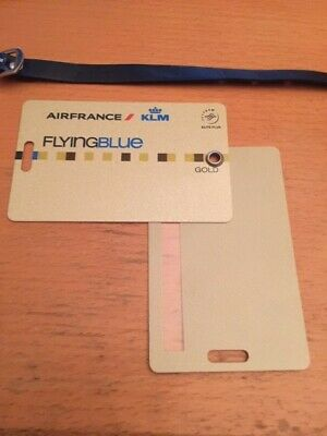 KLM Air France Flying Blue GOLD Etiquette bagage - Luggage Tag