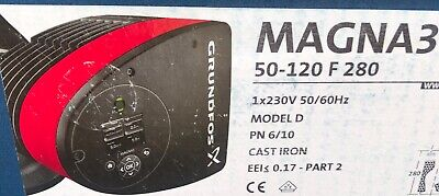 Grundfos Magna3 50-120 F 280 Model D Cast Iron Water Circulation Pump